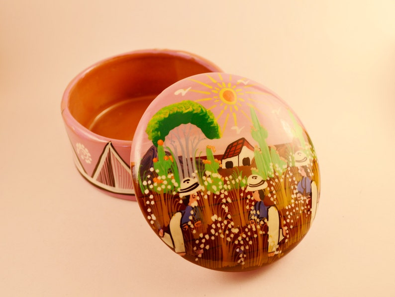 Handmade Glossy Ceramic Jewelry Box Jewelry Holder Keepsake image 0