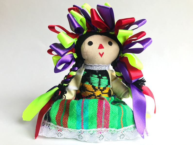 Small Traditional Handmade Mexican Doll  Mexican Doll  Rag image 0