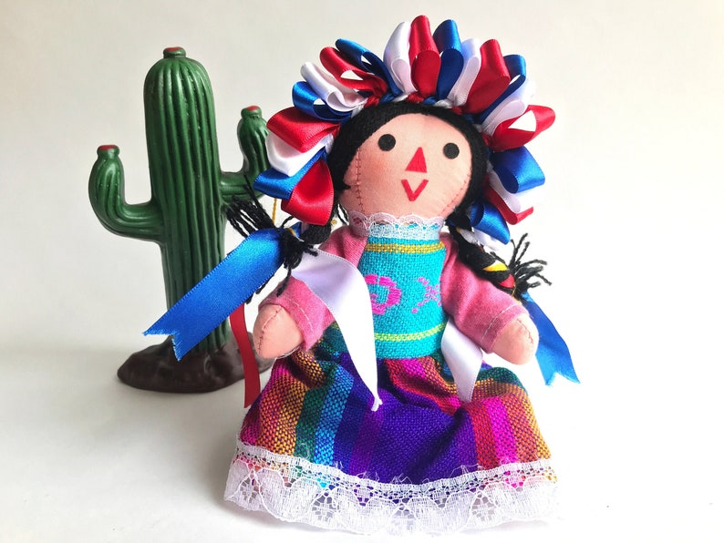 Small Handmade Mexican Rag Doll Mexican Doll Rag doll Gift image 0