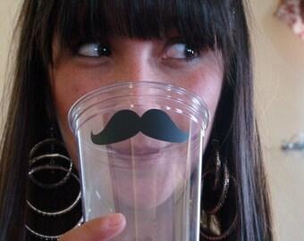 Mustache Stickers - 88 pieces