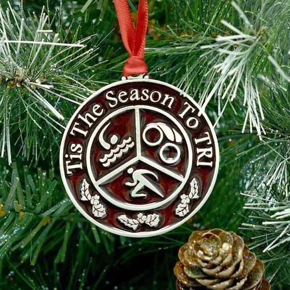 image 0 - Triathlon Christmas OrnamentTis The Season To Etsy