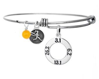 Disney Dopey Challenge Expandable Race Bangle Charm Bracelet-Running Jewelry,48.6 Dopey Run Disney Bangle