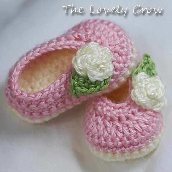 Ballet Slippers Crochet Pattern For Baby Rosey Ballet Slippers Etsy