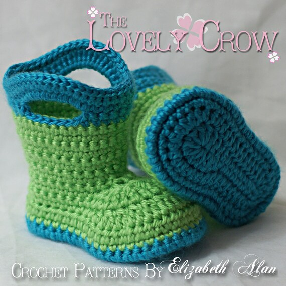 Booties Crochet Pattern Baby Booties for Baby Goshalosh Boots | Etsy