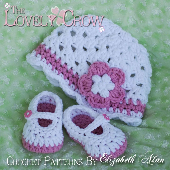 Chunky Yarn Crochet Pattern For Bullky Baby Button Maryjanes Etsy