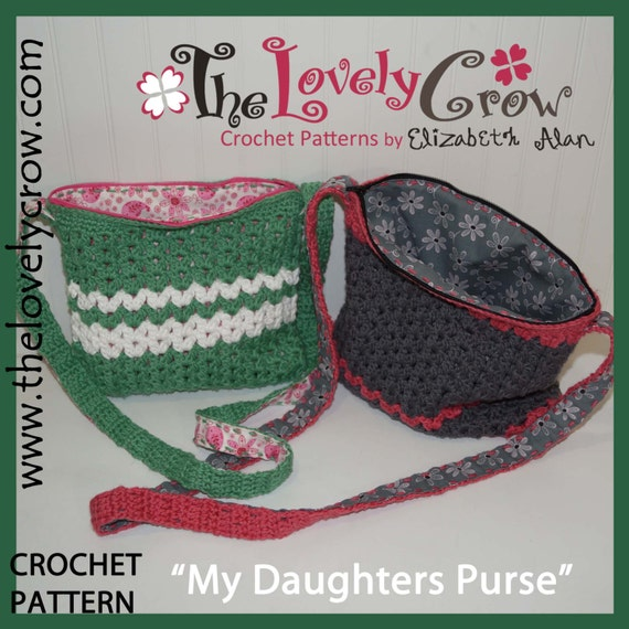 Crochet Purse Pattern My Daughters Purse By The Lovely Etsy