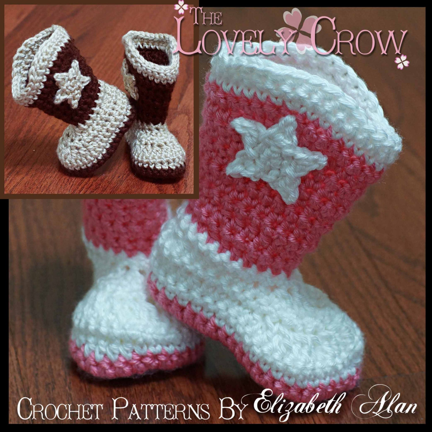 Crochet Pattern Cowboy Boots Toddler Boot Scootn Boots Etsy
