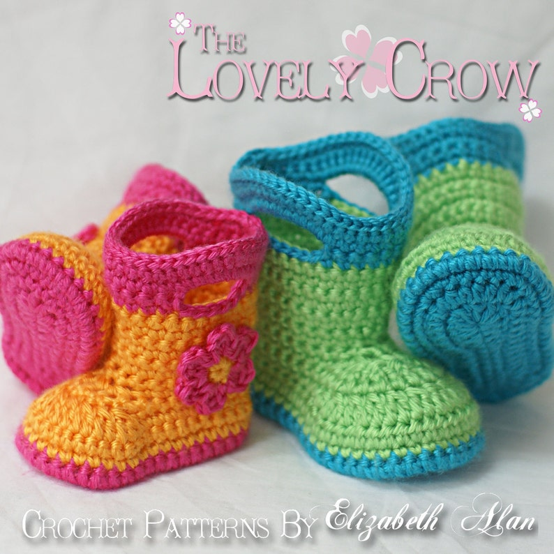 17c8dcc216f92 Booties Crochet Pattern Baby Booties for Baby Goshalosh Boots - 4 sizes -  Newborn to 12 months. digital