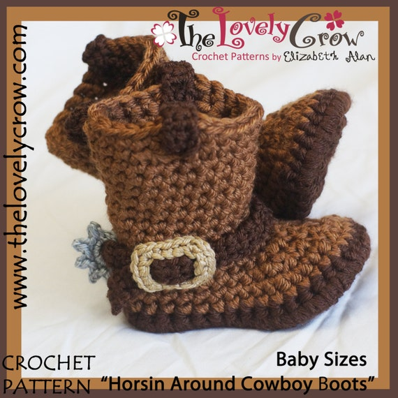 Baby Crochet Pattern Cowboy Boots Etsy
