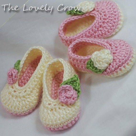 Ballet Slippers Crochet Pattern For Baby Rosey Ballet Slippers