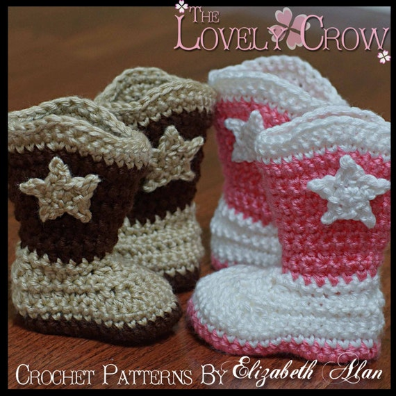 Toddler Cowboy Boots Crochet Pattern Toddler Boot Scootn Boots Etsy