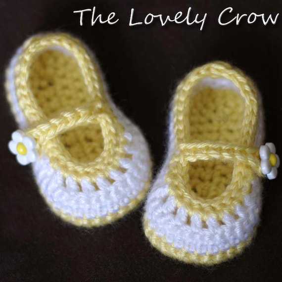 Knit Baby Girls Tea Party Mary Jane Shoes Booties 4 Sizes Handmade Crochet