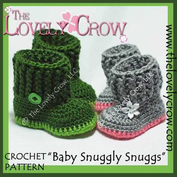 Baby Slippers Crochet Pattern Baby Snuggly Snuggs Digital Etsy