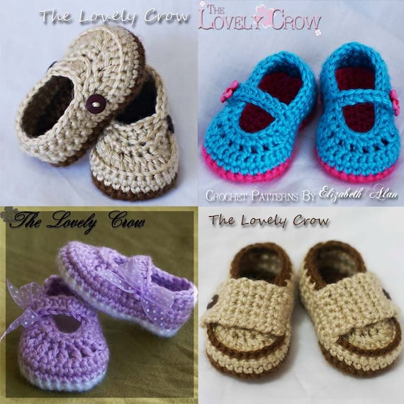 Booties Crochet Patterns 4 Booties Crochet Patterns Included Etsy