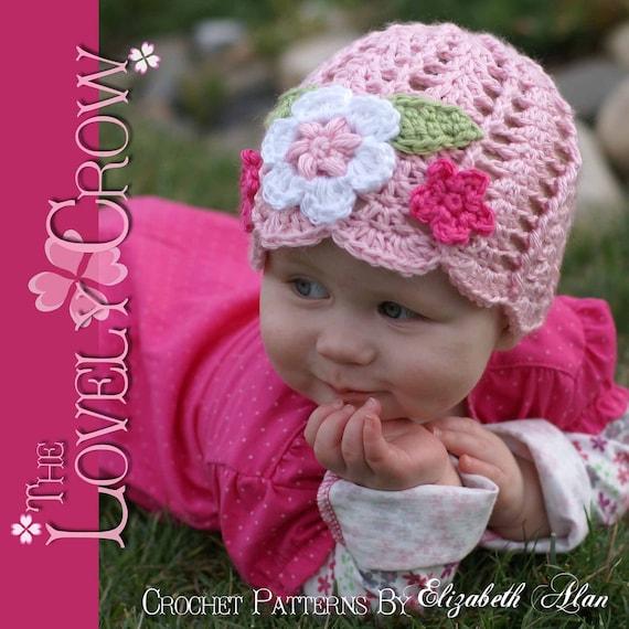 Baby Beanie Crochet Pattern Flower Beanie for Garden Fairy Hat  fcc0751146d