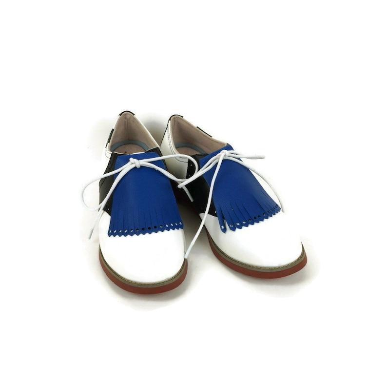 Royal Blue Golf Kilties for Womens Golf Shoes Swing Dance image 0