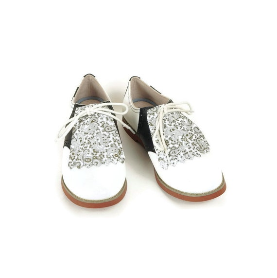 247dee25d6457 Paisley Kilties for Womens Golf Shoes Saddle Shoes, Lindy Hop Ladies Golf  Shoes Golf Gifts for Women Shoe Accessories Kilty Golf Accessories