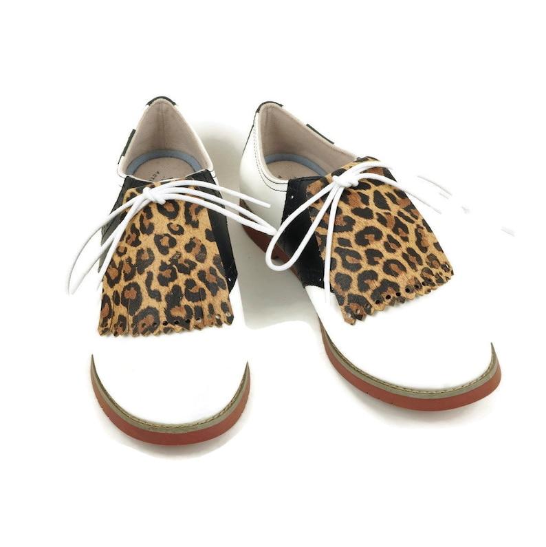1c6e292f7e70b Animal Print Kilties for Womens Golf Shoes, Saddle Shoes, Lindy Hop Shoes  Ladies Golf Shoes Golf Gifts for Women Shoe Accessories Golf Stuff