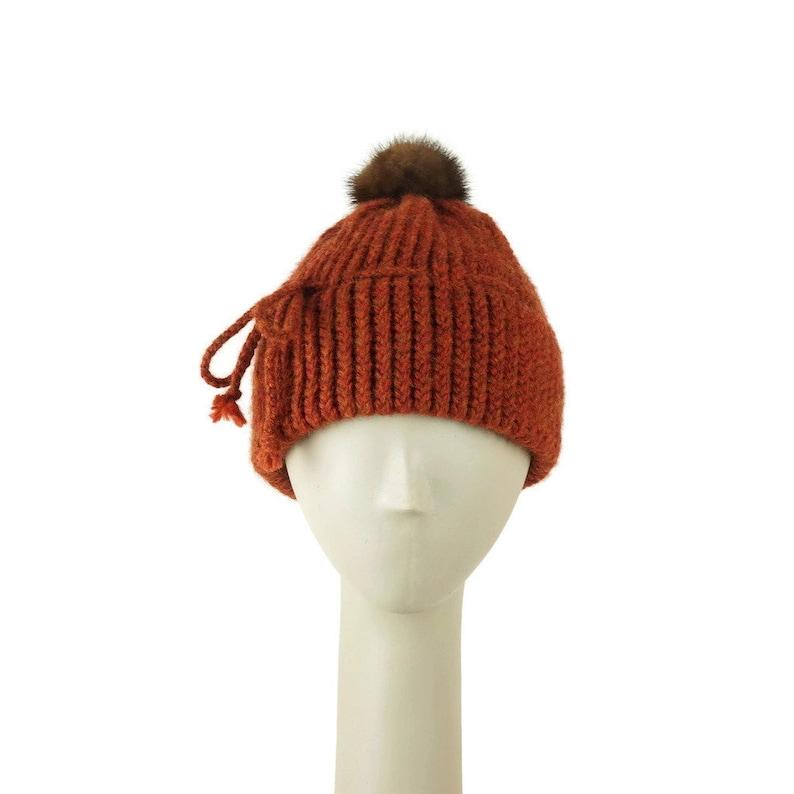 Rust Beanie Hat for Women  Wool Cap Womens Beanie Hat image 0