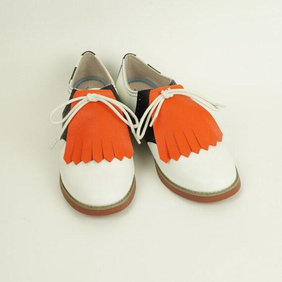 f805fd4546e58 Orange Kilties for Womens Golf Shoes, Saddle Shoes Lindy Hop Shoes Ladies  Golf Shoes Golf Gifts for Wome, Shoes Accessories Golf Accessories