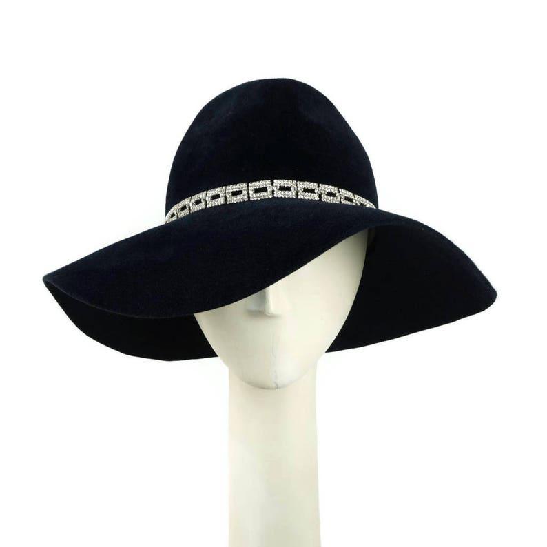 Womens Fedora Hat Wedding Hat Floppy Hat Wide Brim HatWoman image 0