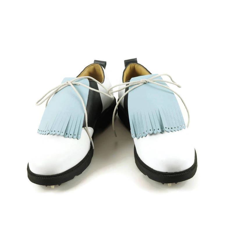 9f3524e062685 Light Blue Kilties for Mens Golf Shoes, Swing Dance Shoes, Lindy Hop, Gift  for Golfers Golf Shoe Kilty Golf Gift for Man, Golf Shoes for Men