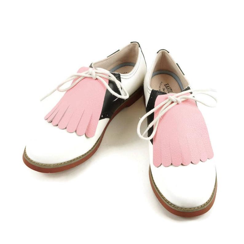 5382d6b075e90 Pink Kilties for Womens Golf Shoes,Saddle Shoes, Lindy Hop Shoes Swing  Dance Shoes Golf Gifts for Women Golf Accessories, Ladies Golf Shoes
