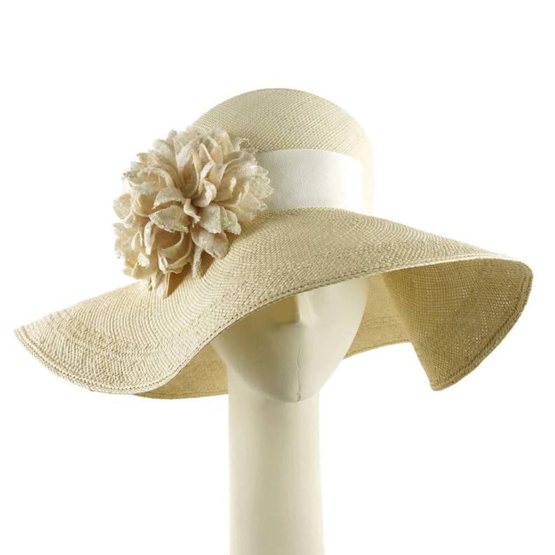 da652f33 Womens Straw Hat Wedding Hat Sun Hat for Women Wide Brim | Etsy