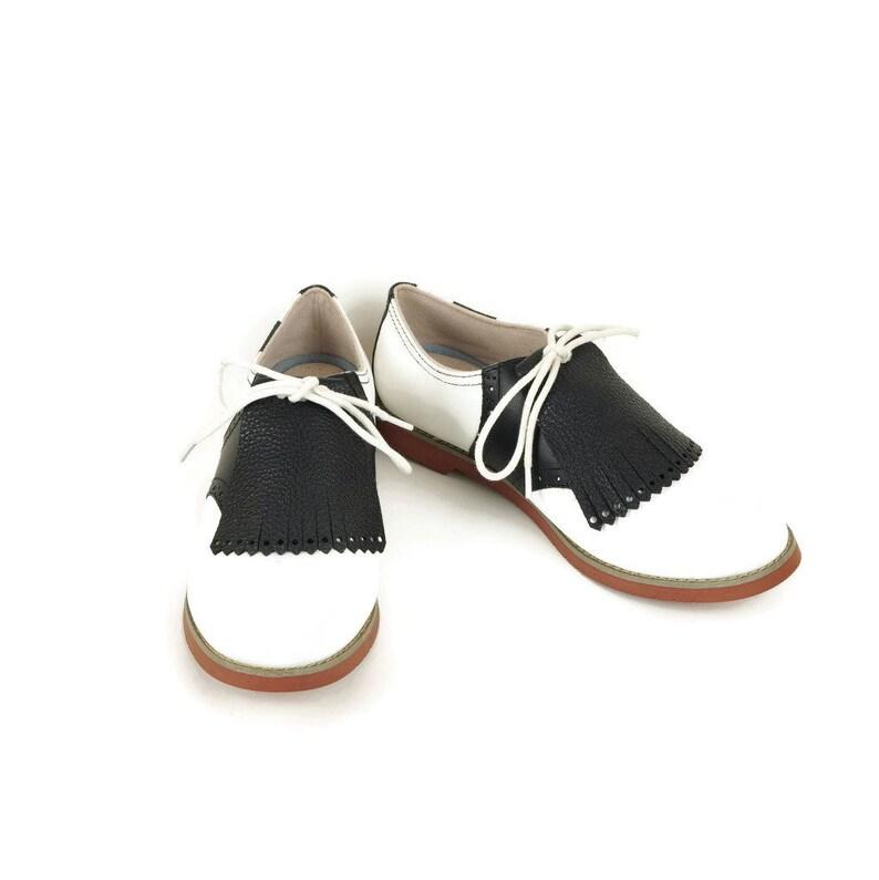 88195ee57009e Black Kilties for Womens Golf Shoes Saddle Shoes, Lindy Hop Ladies Golf  Shoes, Golf Gifts for Women Shoe Accessories Kilty Golf Accessories