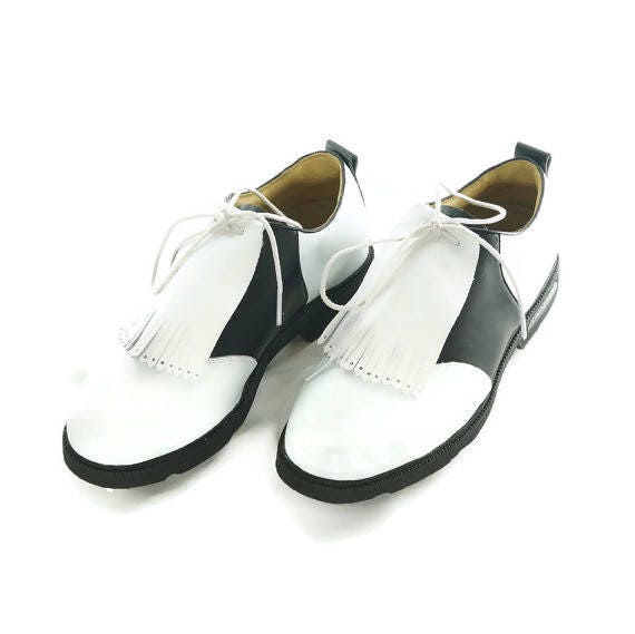e311e0db02349 White Kiltie for Mens Golf Shoes, Lindy Hop Shoes, Swing Dance, Golf Shoes  for Men Kilty, Golf Gifts For Men, Gift for Him, Golf Accessories