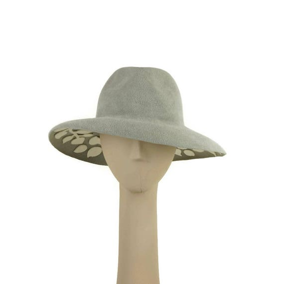 Mother of the Bride Hat Ladies Hat Gray Felt Hat for Women  a92e1d0352f