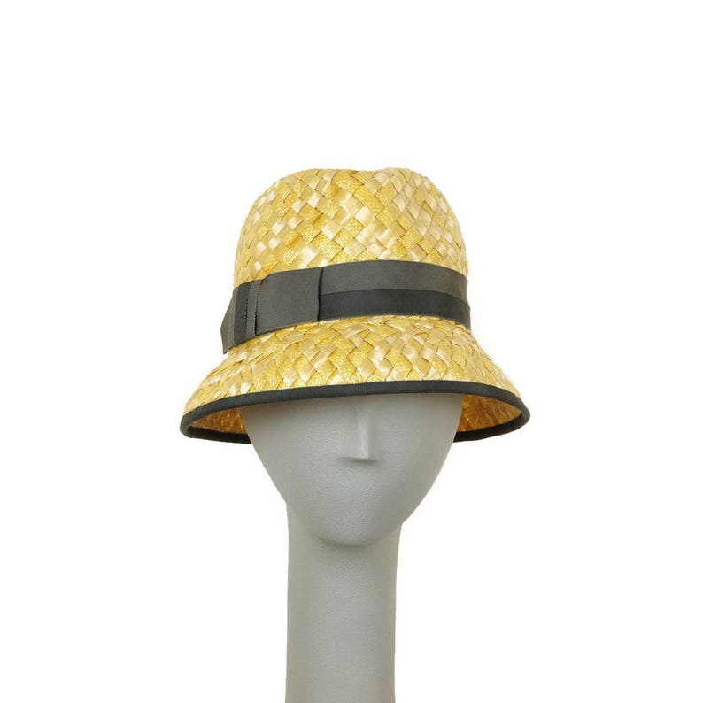 Yellow Straw Hat for Women Summer Hat Womens Fedora Hat image 0