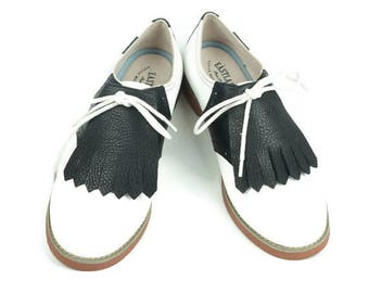 Black Kilties for Womens Golf Shoes, Shoe Accessories, Gift for Golfers, Shoe Decorations, Golf Gift Ideas, Golf Gifts, Lindy Hop Dancers