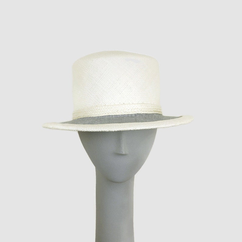 Straw Hat for Women Summer Hat Boater Hat Handmade Panama image 0