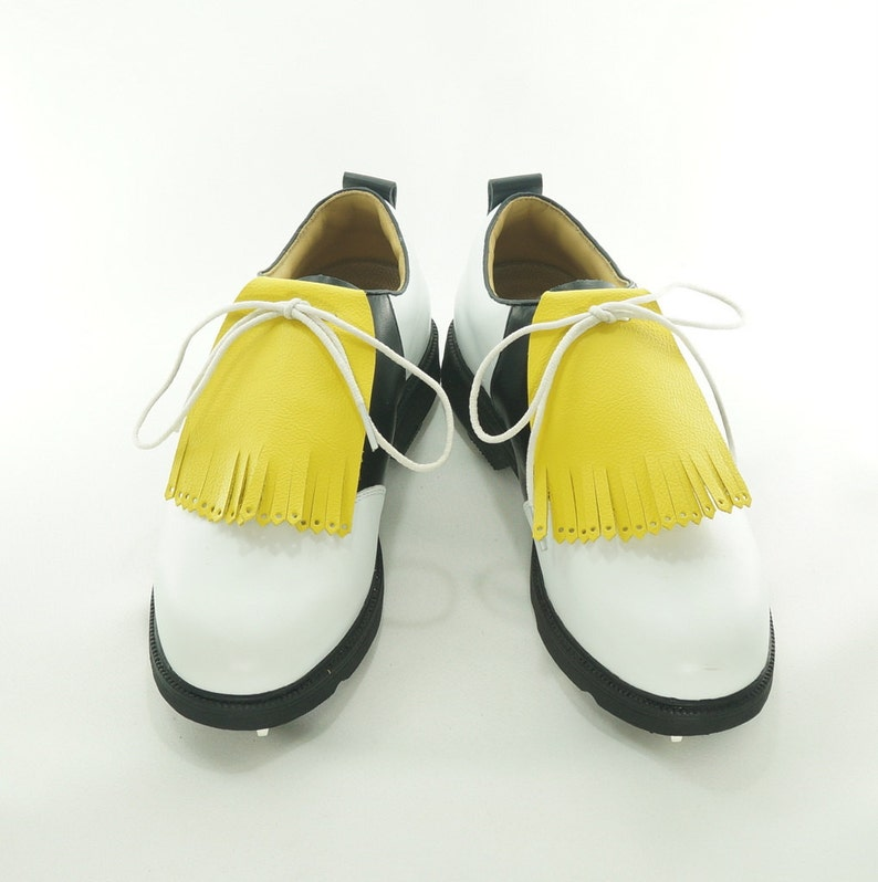 Yellow Kilties for Mens Golf Shoes Lindy Hop Swing Dance image 0