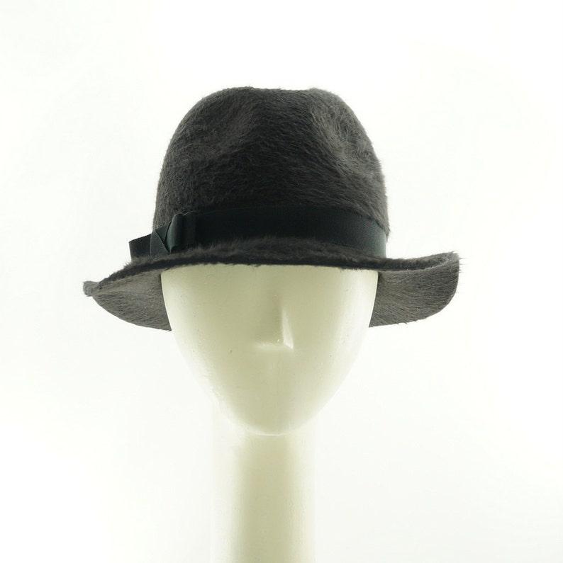 Gray Beaver Fedora Hat Boho Hat for Women Felt Hat Fedora image 0