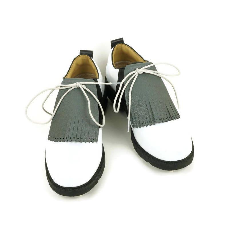 Dark Gray Kilt for Mens Golf Shoes Lindy Hop Swing Dance image 0