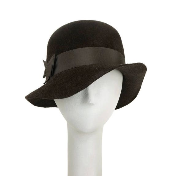 Brown Floppy Hat for Women Felt Hat Womens Fedora Hat  86970f5e08a