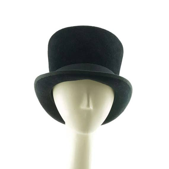 Black Top Hat Felt Hat Black Hat for Women Ladies Hat  90d3c67dfa6