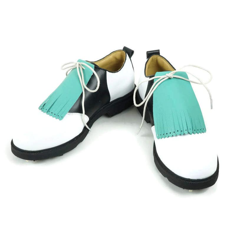 2976fa70a28ec Aqua Leather Kilties for Mens Golf Shoes Saddle Shoes and Lindy Hop Shoes  Golf Gifts for Men, Swing Scarpe Golf Accessories Golf Gift Ideas