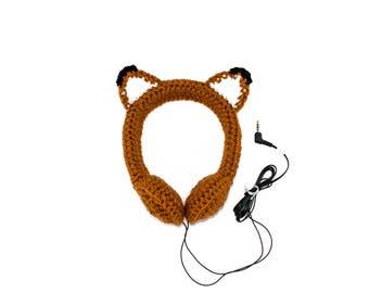 Foxy Crocheted Headphones