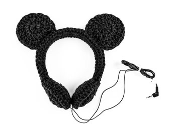 Crocheted Mickey Mouse Headphones