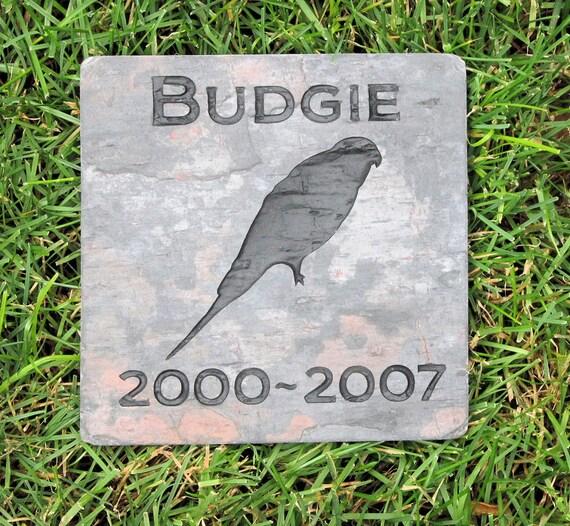 Personalized Parakeet Bird Memorial Stone Grave Marker 6 x 6 | Etsy