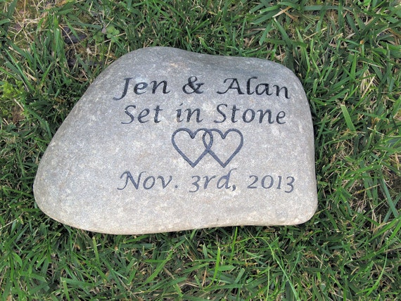 Personalized Irish Celtic Wedding Gift Stone Unique Oathing Etsy