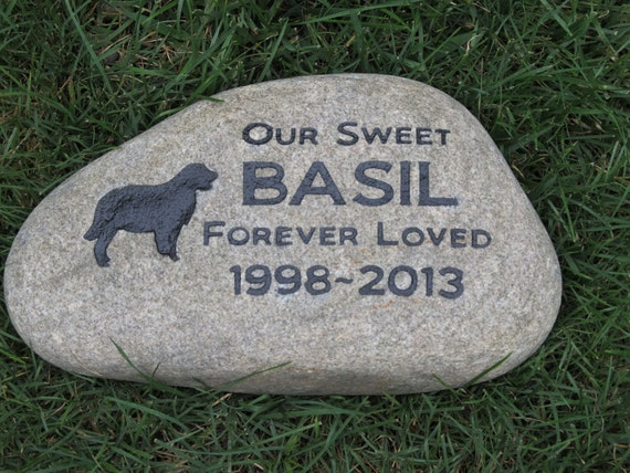 pet memorial gifts personalized pet memorials stone golden etsy