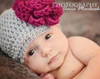 0c201ea5b19 Newborn Flower hat