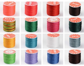 Thin Rope for Womens and Mens Wholesale 100 Meters 0,8mm White Round Polyester Cord Polyester Cord for Crafting Colored Ropes