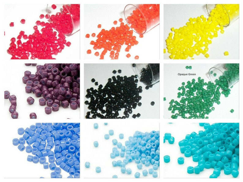 11/0 Seed beads Miyuki Delica 5 gram glass seed beads for image 0