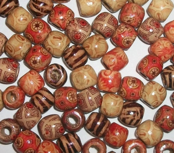 50x NATURAL WOODEN BEADS RONDELLE 8x7mm Jewellery Making FINDINGS