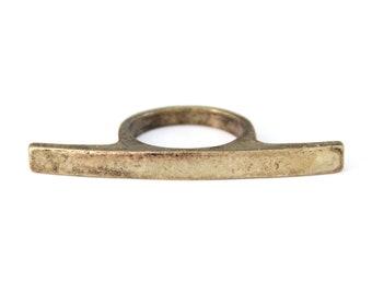 Brass Bar Ring